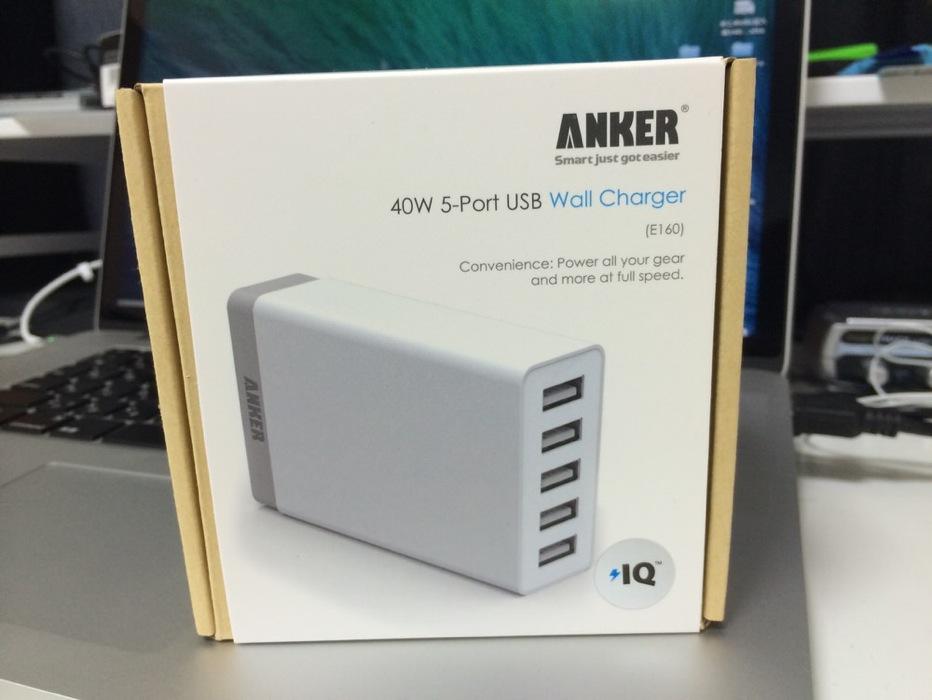 一度に5台のiPhoneやiPadなどを充電できる「Anker 40W 5ポート USB急速充電器」をチェック