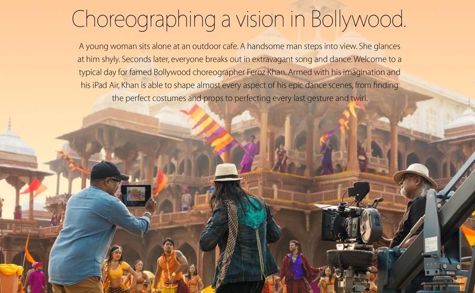 Apple、iPadの活用事例を紹介する「Your Verse」シリーズで新たに「Bollywood Vision」を公開