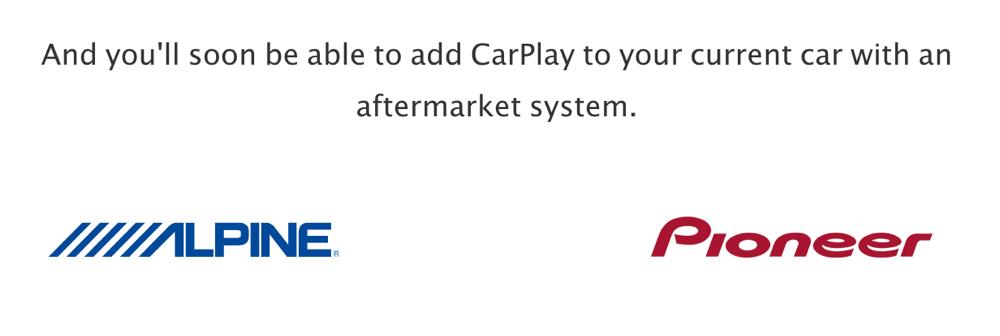 Appleのサイトに「CarPlay」のサポートメーカーとして「ALPINE」「Pioneer」を追加