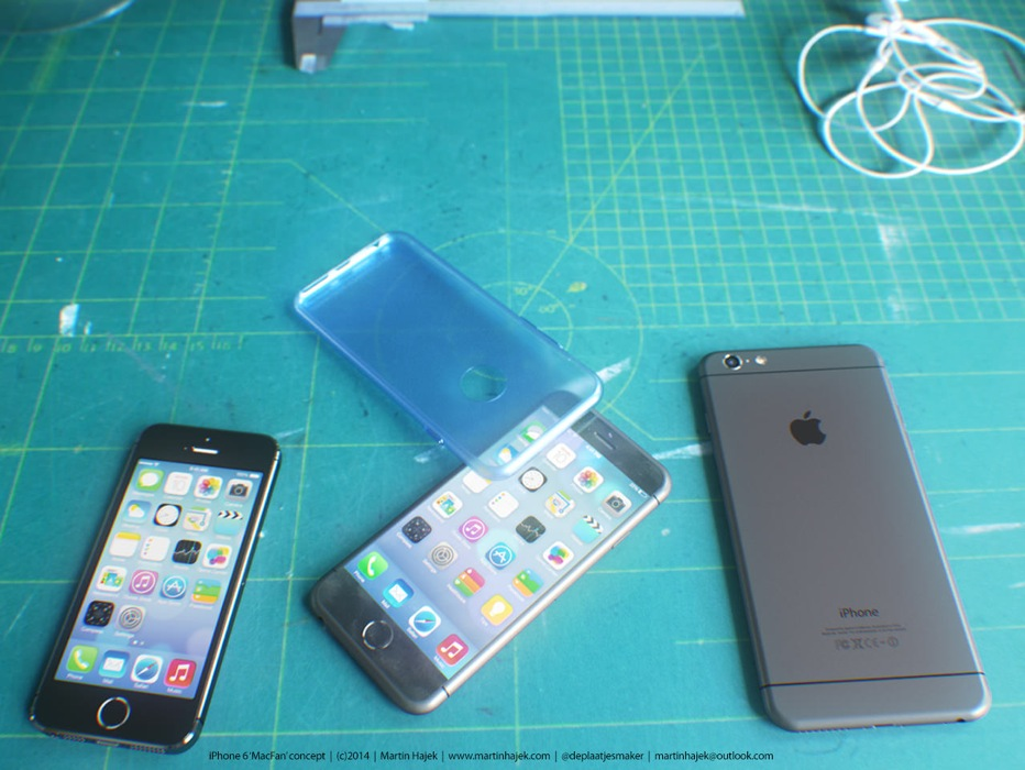 Martin Hajek氏によるシリコンケースを装着した「iPhone 6」のコンセプト画像