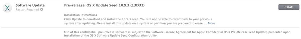 Apple、デベロッパー向けに「OS X Mavericks 10.9.3 Build 13D33」リリース