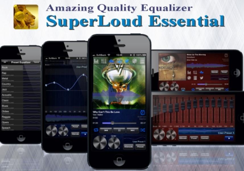 高音質を実現するサウンドプレイヤー「SuperLoud Essential」が1,000円 → 500円に値下げ中!【2014年4月22日版】アプリ新作・値下げ情報