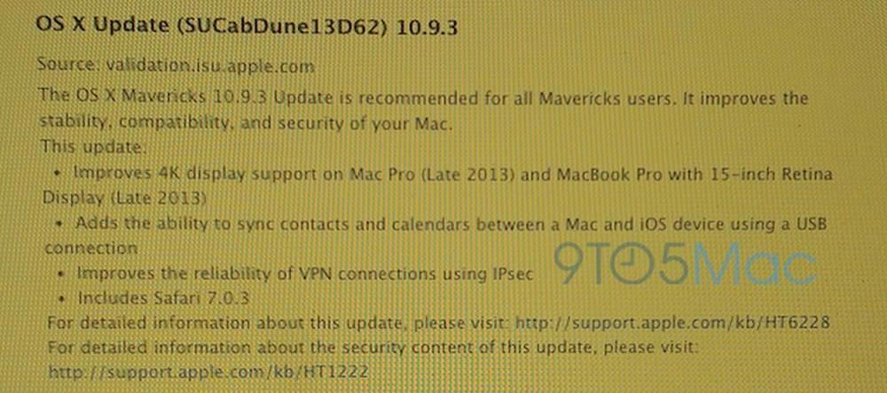 Apple、AppleCareのスタッフに対して「OS X Mavericks 10.9.3 build 13D62」を配布、正式リリースはまもなくの模様