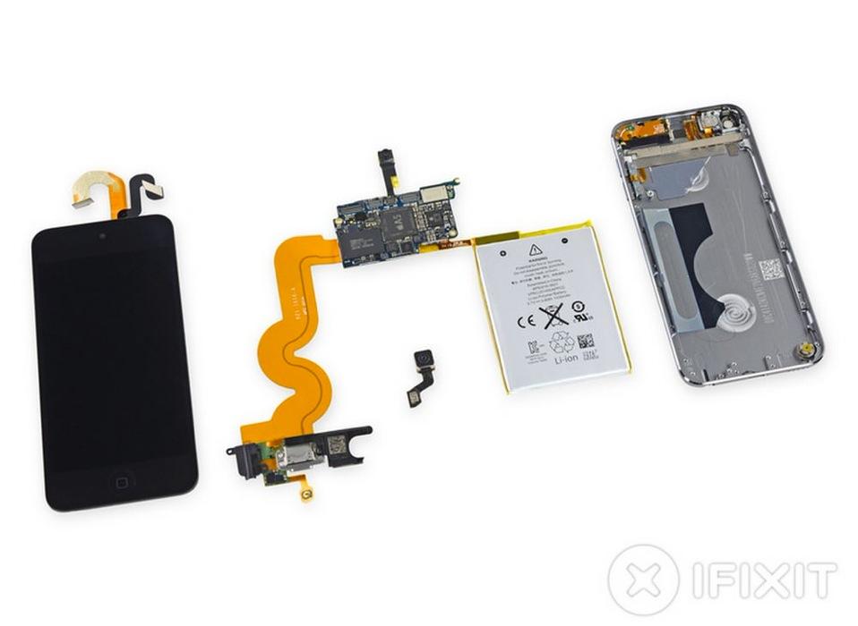 iFixit、iSightカメラ搭載の「iPod touch (第5世代) 16GBモデル」のバラシレポートを公開
