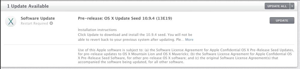 Apple、デベロッパー向けに「OS X 10.9.4 build 13E19」リリース