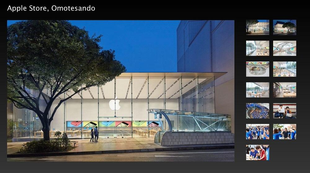 Apple、「Apple Store, Omotesando」のフォトギャラリーを公開
