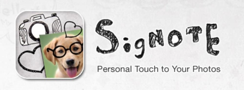 紙に描いた絵を写真の上に転写できる「SigNote」が200円 → 100円に値下げ中!【2014年6月15日版】アプリ新作・値下げ情報