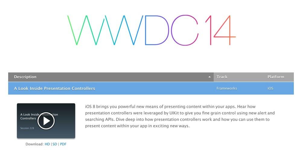 Apple、「WWDC 2014」で行われたセッションの映像とスライドを一般公開