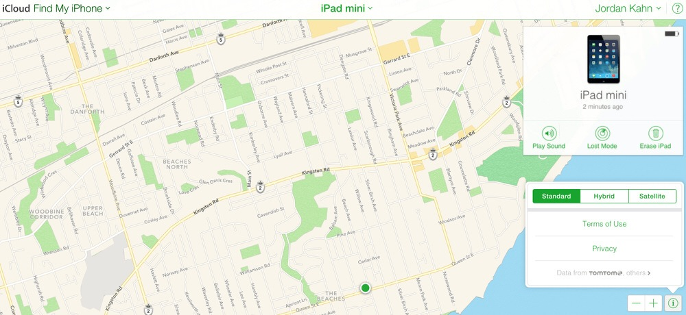 Apple maps find my iphone icloud 1 1