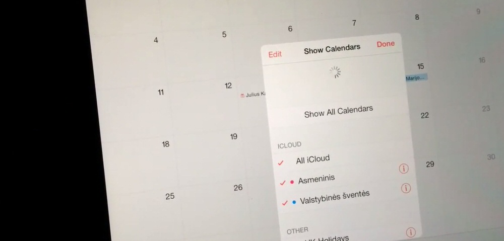 「iOS 7.1.2」ではカレンダーの祝日表示に誤った地域のものが表示されるバグがあり、次期アップデートで修正へ