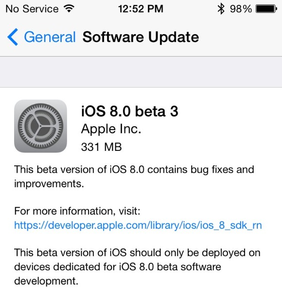 Ios 8 beta 3 1