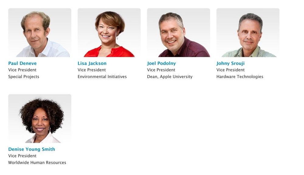 Apple、「Apple Leadership」ページに女性2人を含む5人のヴァイプレジデントを追加