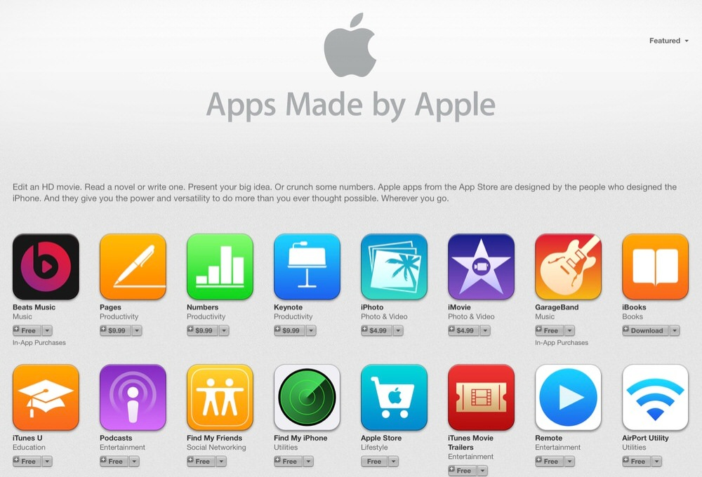 米Apple、App Storeの「Apps Made by Apple」のセクションに「Beats Music」を追加