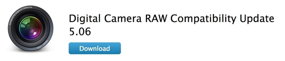 Apple、「デジタルカメラ RAW 互換性アップデート 5.06」リリース