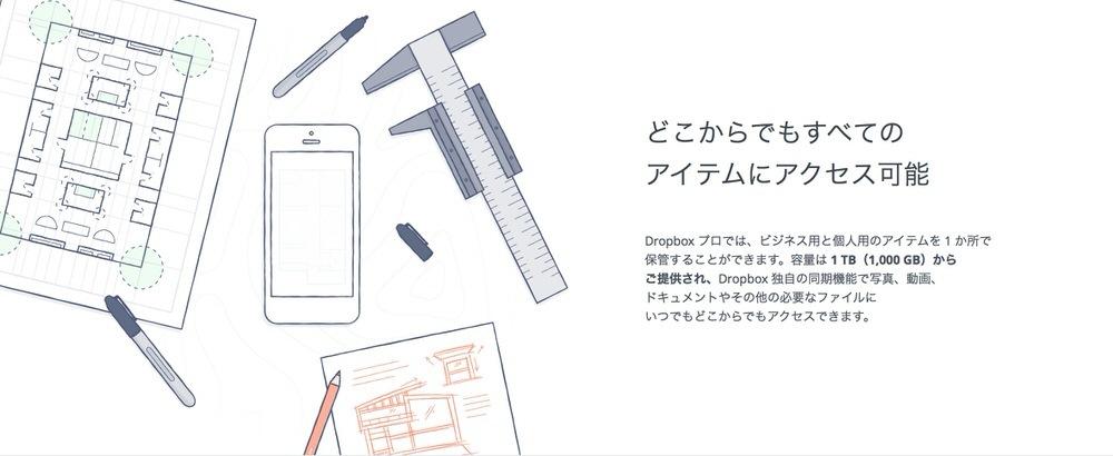 Dropbox、有料プラン「Dropbox プロ」の価格を改定し1TBが月額1,200円または年額12,000円で利用が可能に