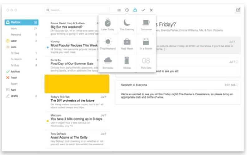 Mailbox、iPhoneで人気のメールアプリ「Mailbox」のMac版「Mailbox for Mac」のパブリックベータ版を公開