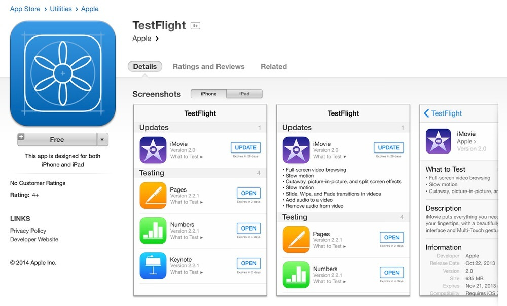 Apple、アメリカでベータテストサービス立ち上げのためiOSアプリ「TestFlight」をリリース