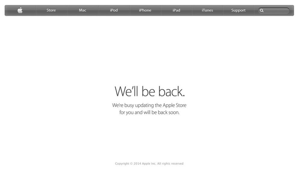 「iPad Air 2」「iPad mini 3」の予約の準備!? Apple Online Storeが日本を含む世界各国で「We'll be back」に
