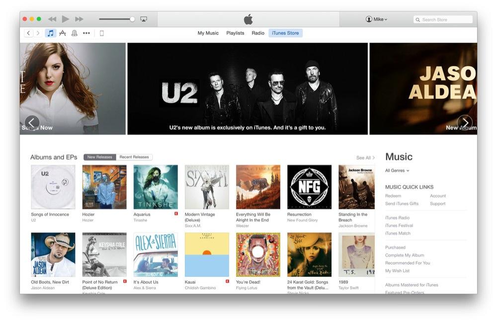 Apple、「OS X Yosemite」で提供されるiTunes 12でiTunes Storeのデザインをリニューアル