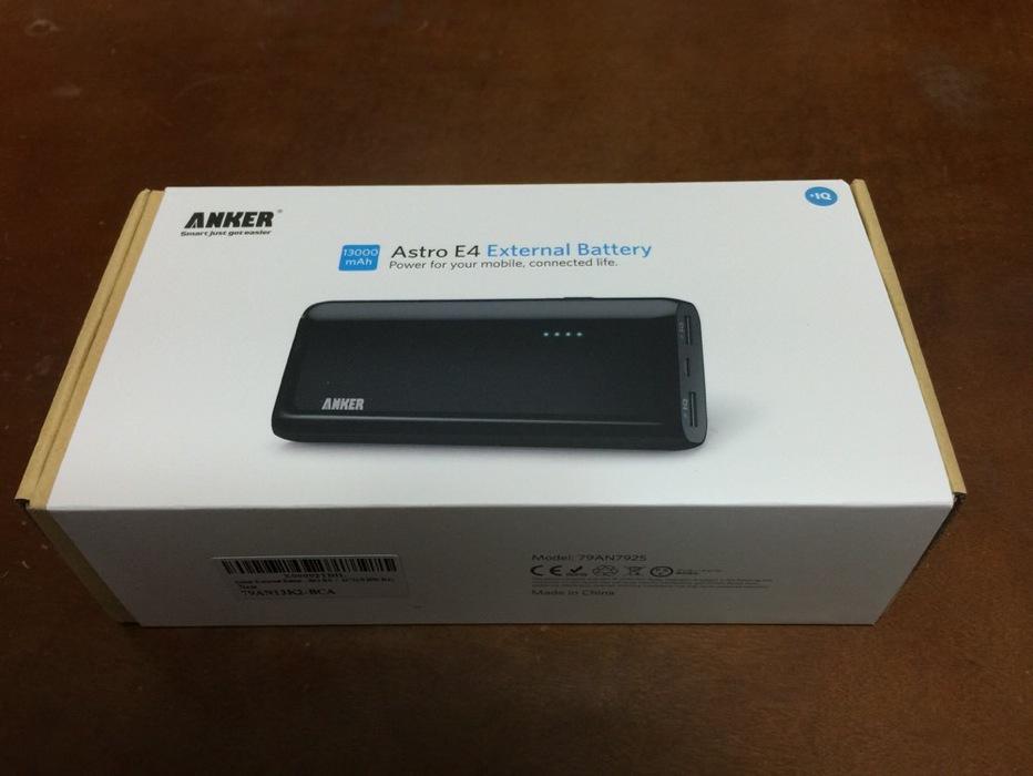 【レビュー】Ankerのモバイルバッテリー「Anker Astro E4 第2世代 13000mAh モバイルバッテリー」をチェック