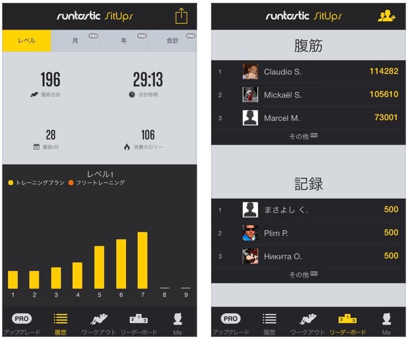 腹筋トレーニング支援アプリ「Runtastic Sit-Ups PRO」が200円 → 無料セール中!【2014年11月17日版】アプリ新作・値下げ情報