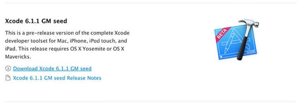 Apple、デベロッパー向けに「Xcode 6.1.1 GM」リリース