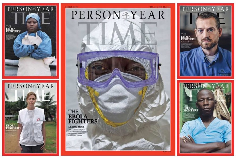TIME誌が選ぶ2014年「Person of the Year」には「THE EBOLA FIGHTERS(エボラ熱と闘う人々)」に