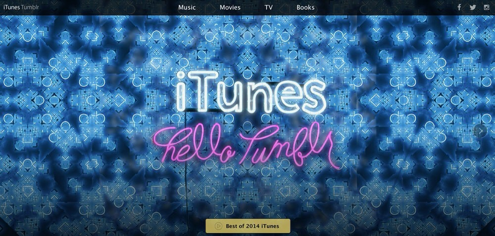 Apple、TumblrでiTunesのページをオープン、今月初めにはInstagramのアカウントも開設