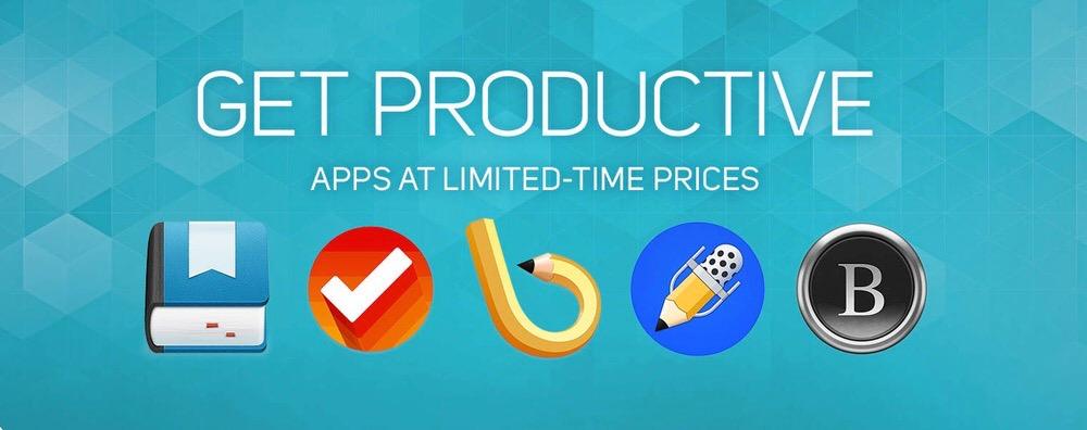 Apple、Mac App Storeで仕事を効率化できるアプリを特別価格で提供する「GET PRODUCTIVE」を実施中