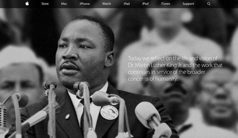 Apple、「マーチン・ルーサー・キング・ジュニア・デー」に合わせてアメリカの公式サイトをアップデート