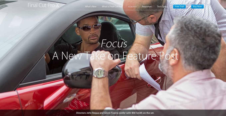 Apple、「Final Cut Pro X」で編集された初のハリウッド映画「Focus」を紹介