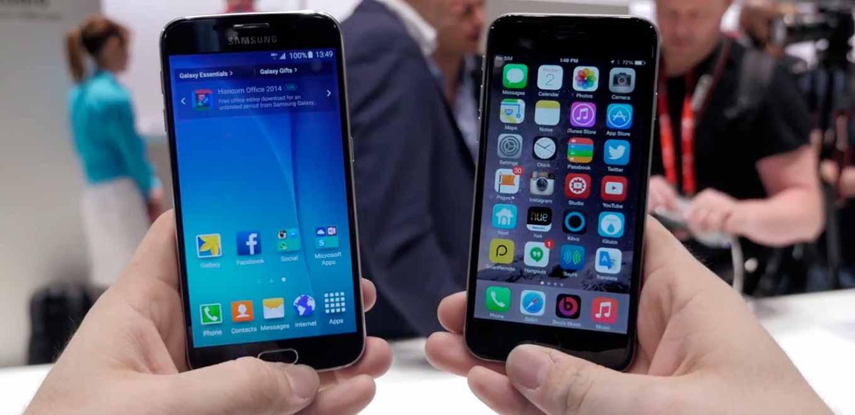 「iPhone 6」と「Galaxy S6」を比較したハンズオンムービー