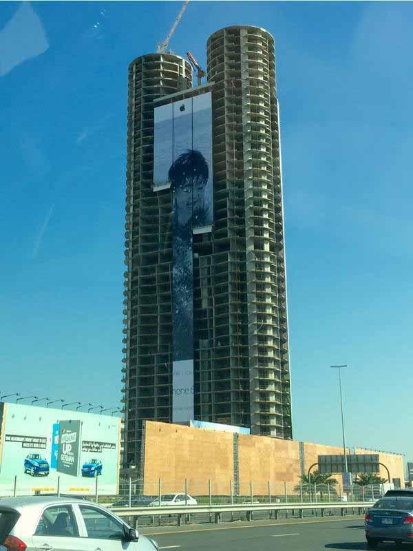 Apple、世界中のビルなどでもiPhone 6のカメラで撮影された写真を紹介する「iPhone 6で撮影」キャンペーン広告を掲載