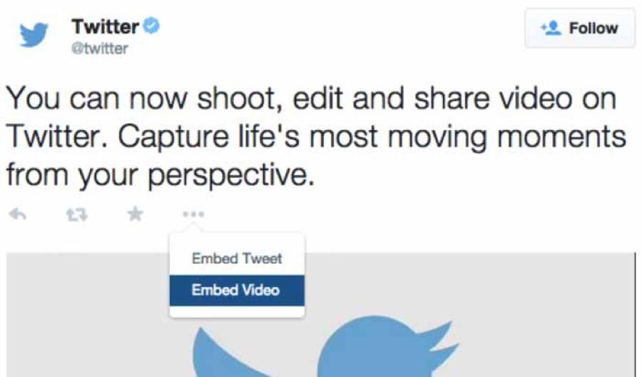 Twitter、動画の埋め込み機能の提供を開始