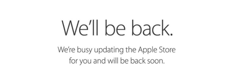 Apple Online Store、日本を含む世界各国で「We'll be back」に 2015.4.10