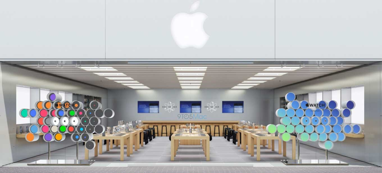 「Apple Watch」の予約開始にあわせてApple Storeの店頭ディスプレイが「Apple Watch」をテーマにしたものに変更へ