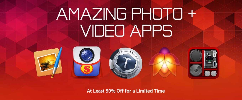 Apple、Mac App Storeでも写真・ビデオアプリが半額以下となる「AMAZING PHOTO + VIDEO APPS」を実施中