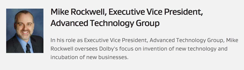Apple、元Dolbyのアドバンストテクノロジーグループのヴァイスプレジデント Mike Rockwell氏を採用