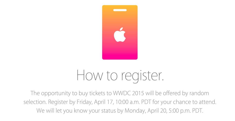 Wwdc2015 ticket