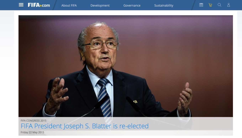 FIFA会長選挙、ゼップ・ブラッター会長の再選が決定