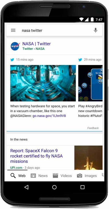 GoogleとTwitter、検索結果にツイートを追加したことを発表