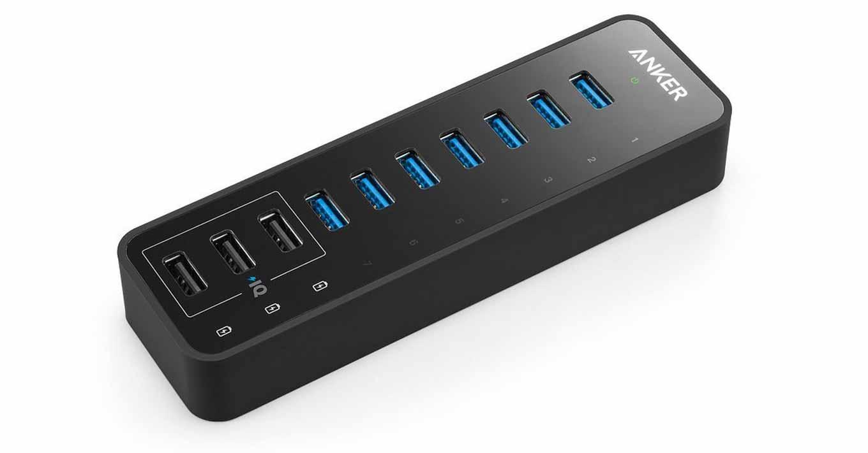 Amazon、「Anker 60W 7+3ポート USB 3.0 データハブ」を4,799円で販売中(6月20日タイムセール)