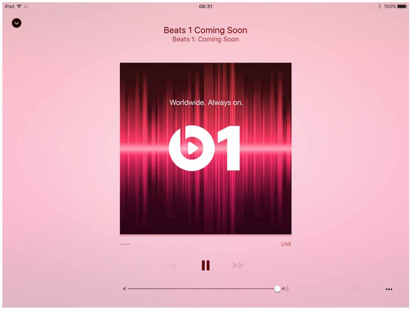 iOS 8.4 betaとiOS 9 betaでは「Apple Music」の一部であるラジオステーション「Beats 1」が表示される