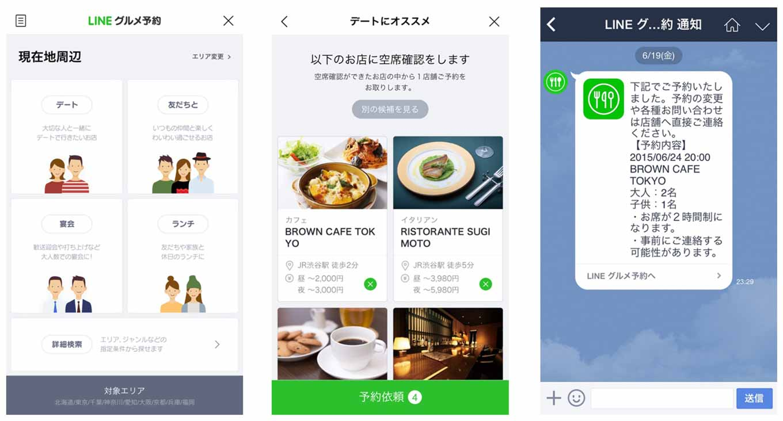 LINE、人気飲食店を対象としたネット予約サービス「LINE グルメ予約」を発表 – LINE公式アカウント登録ユーザーに限定公開
