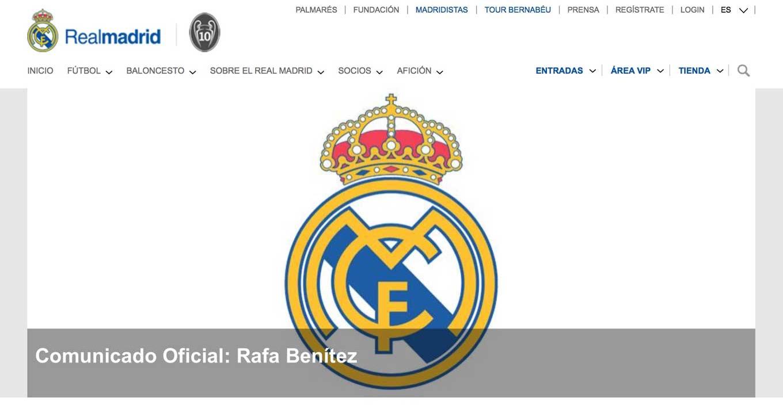 レアル・マドリードの新監督にラファエル・ベニテス氏の就任が決定