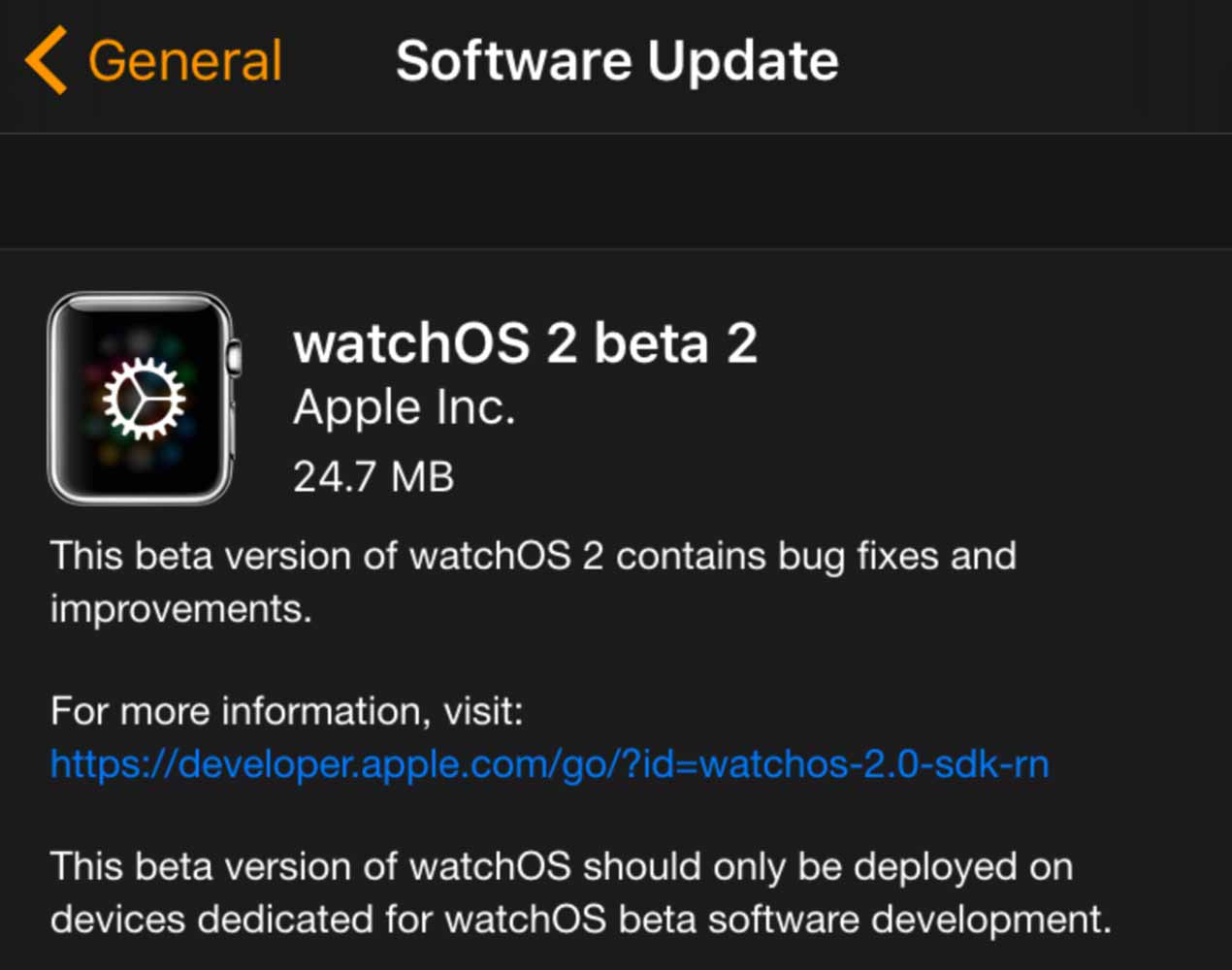 Watchos2beta2