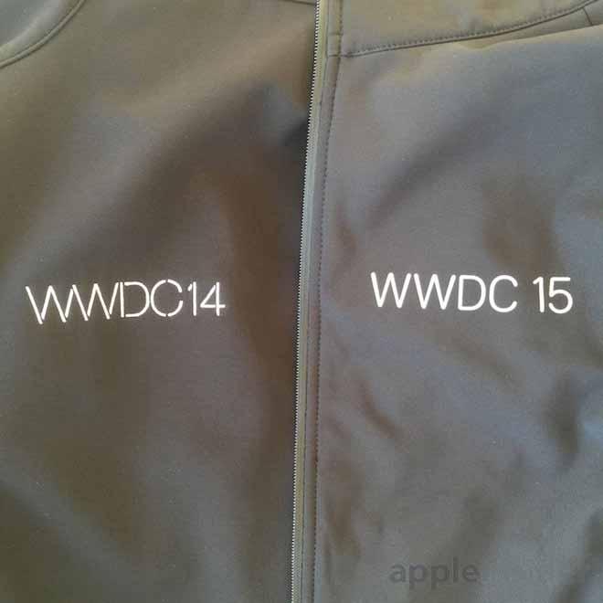 「WWDC 2015」参加者に配られているジャケットには新しい「San Francisco」フォントが使われている
