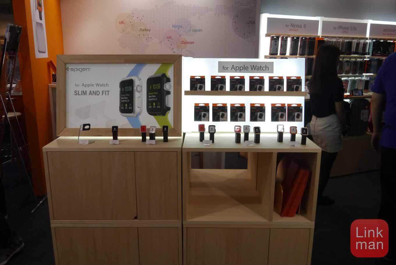GIFTEX 2015レポート:Spigen、「Apple Watch」のケース・フィルム・スタンドなどを展示