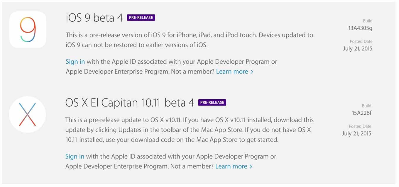 Ios9beta4elcapitanbeta4