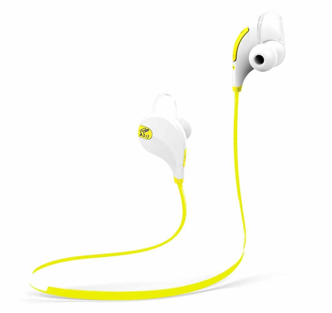 Amazon、Bluetoothヘッドセット「Soundpeats QY7(white/yellow)」を2,299円で販売中(7月11日タイムセール)